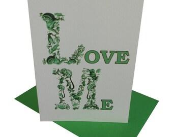 LOVE ME card