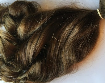 Light Brown 100% Remy Human Hair Clip in or Tape Hair Extension Set
