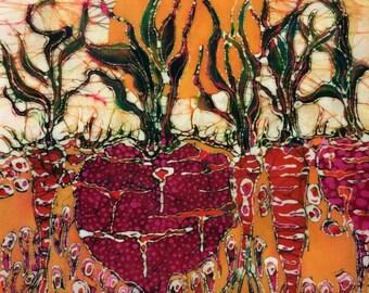 Garden  -  Filled With Sunlight  -  batik print from original