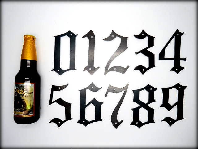 Old english font numbers the image kid for Classic house number fonts