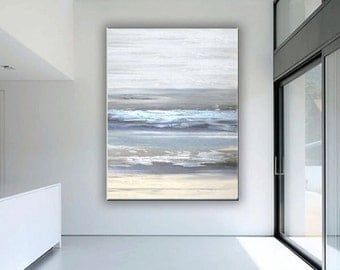 Abstract Painting,  60''x40'', HUGE Original   Textured Palette Knife Painting.