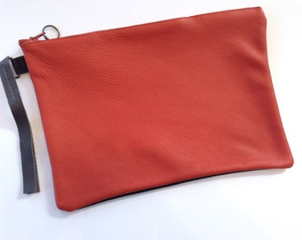 Orange and Black Clutch