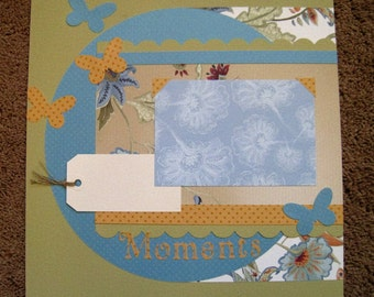 Scrapbook Layout - Life's Moments - 12 x 12 - Double Page