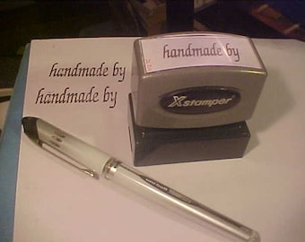 "Rubber Stamper  "" Handmade By ""  Slight use ... hundreds or thousands stamps to go"