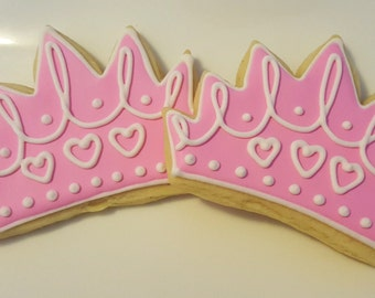 Princess Crown Cookies 2 dozen