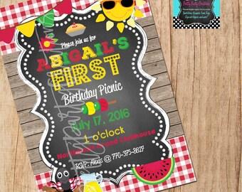 CHALKBOARD PICNIC invitation - YOU Print