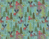 Juniper Berry Reindeer Games in Winter Sky Blue, BasicGrey, 100% Cotton, Moda Fabrics, 30430 13