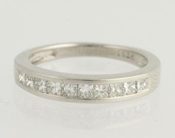 Diamond Wedding Band - 950 Platinum Princess Cut .50ctw L9377