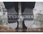 custom mismatch mittens for chris