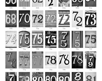 PHOTO NUMBERS DATES, numbers 56-99, 4x6 photo number, print only, photos for year date