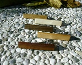 TIE CLIP SET - Wooden Set Of Mix Wood 5 Handmade Tie Clips, Free Shipping