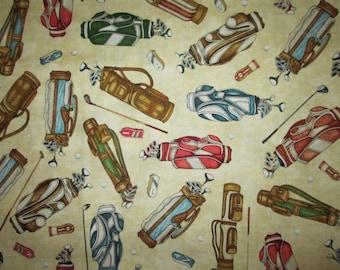 Golf Bags Gloves Cream Cotton Fabric Fat Quarter Or Custom Listing