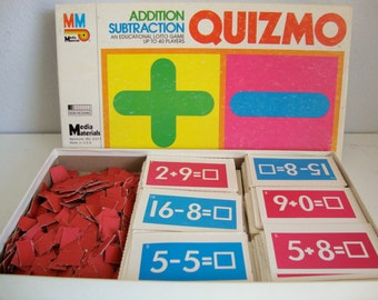 Game, Quizmo Game, School Game, Home Schooling Game, Addition and Subtraction Bingo