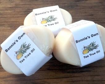 Tea Tree Oil Soap, 3 oz Soap Bar, Bath Soap, Goat Milk Soap, Essential Oil Soap, Tea Tree Soap, Tea Tree Oil, camphoraceous Scent