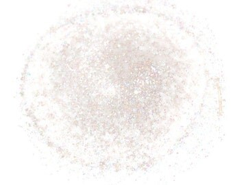 White SOLVENT RESISTANT HOLOGRAPHIC Glitter 0.015 Hex - 1 Fl. Ounce for Glitter Nail Art and Glitter Crafts