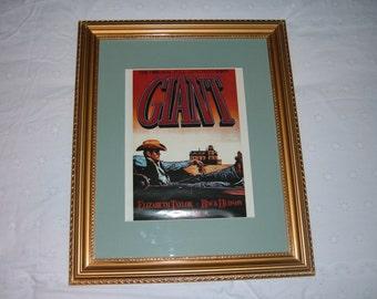 "Framed Ad of James Dean for Movie ""Giant"""