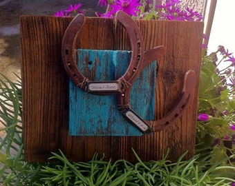 Personalized Wedding Gift Rustic Cowboy Western Horseshoe Wedding or Anniversary Gift Personalized for Western Decor, horseshoe wedding