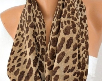 Leopard Print Infinity Scarf Shawl Circle Scarf Loop Scarf Cowl Scarf  Gift Ideas For Her Women Fashion Accessories Christmas Gift