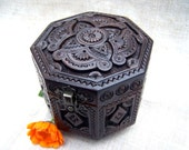 Wooden box Jewelry box Ring box Carved wood box Wedding gifts Wooden boxes Cigar box Wood box Jewellery box Jewelry boxes Wood carving B23