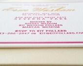 Bridal Shower Invitation - Letterpress - Shower Invitations - Custom Invitations - DEPOSIT
