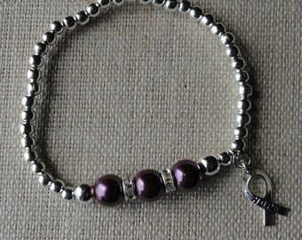088 Hodgkin's Lymphoma Cancer Awareness Bracelet