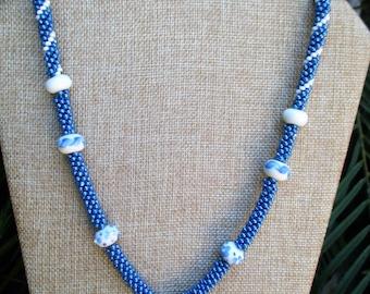 Sky Blue Kumihimo Necklace