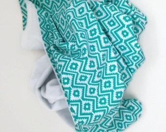 Baby Blanket, Toddler Blanket, Boho Baby Blanket, Aztec Blanket, Tribal Nursery, Minky Blanket, Gender Neutral Blanket