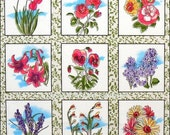 Wildflower Quilt Block Fabric 112-21181 by Fabri Quilt 100 Percent Cotton Sewing Craft Fabric Quilt Blocks