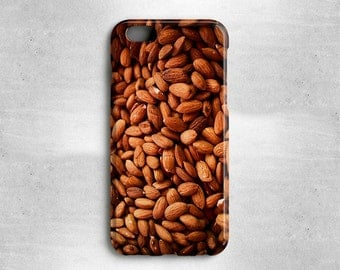 Gifts for Foodies Almonds iPhone 7 Case - Available for iPhone 7 Plus, iPhone 6S, iPhone 6, iPhone 5s, iPhone 5c, iPhone 5, iPhone 4s &