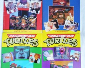 Four Teenage mutant hero turtle or teenage mutant ninja turtle 1990 hippo books