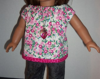 """18"""" doll lounging pajamas set or summer outfit"""