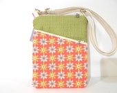 Small Purse, Floral Shoulder Bag / Cross Body