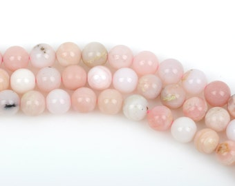 1 strand PINK PERUVIAN OPAL Gemstone Beads Round 11mm gop0005