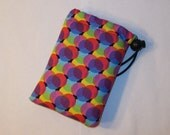 """Padded Pipe Pouch, Psychedelic Bag, Glass Pipe Case, Pipe Bag, Padded Pouch, Small Pouch, Trippy Bag, Hippy Purse, 420 Gift - 5"""" DRAWSTRING"""