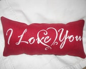 Valentine pillow, I love you