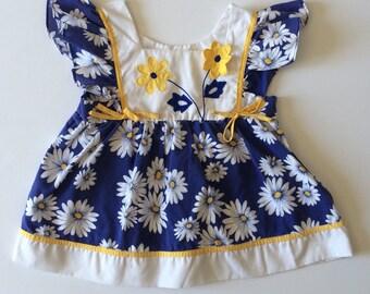 Sale Vintage Daisy Flutter Sleeve Top (3t/4t)