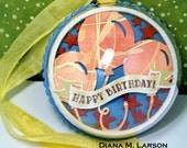 Personalized Birthday Snow Globe ornament    see below - - custom made to order, any occasion. Pick your own three colors