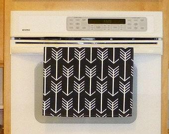 Black Cotton Tea Towel, Kitchen Hand Towel, Decorative Kitchen Towel