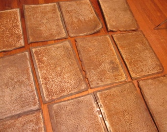 Vintage Punched tin Pie Safe Panels lot of 12
