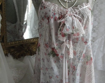 Vintage lingerie, babydoll, shabby chic, romantic, frilly, girly, sheer pink