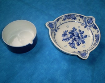 SALE  Vintage Delft and Rosenthal Ashtrays. Was 29.00.