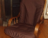 Glider Rocker Slip Cover for your Cushions- CHOCOLATE Brown Fabric or PICK from other choices