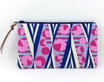 Zipper Pouch, Pencil Case, Small Clutch Purse, Wallet Pouch, Padded, Gift idea - Hapi Grow in Navy