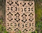 Vintage Pair of Decorative Furniture  Embellishment Architectural  Trim Moulding Repurpose Pieces