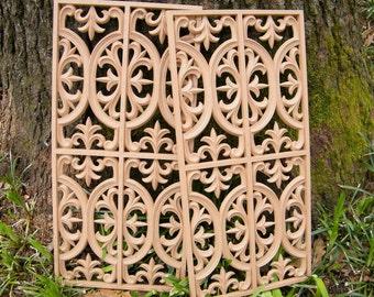 Amazing Vintage Pair Of Decorative Furniture Embellishment Architectural Trim  Moulding Repurpose Pieces