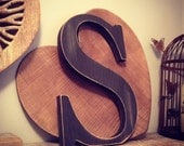 Hand-painted Wooden Letter S - Freestanding - Georgia Font - Various sizes, finishes and colours - 30cm