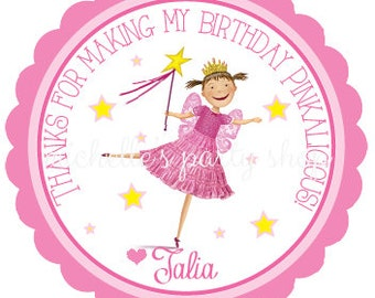SET OF 12, Pinkalicious Favor Tags