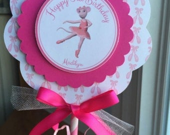 SET of 2, Angelina Ballerina Centerpieces