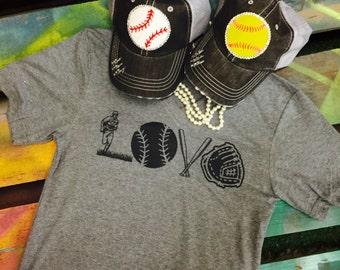 LOVE Baseball Softball soft awesome shirt