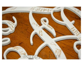26 Inch Connected Wood Vine Script Monogram Letters - Perfect for hanging on a wall or added to a wreath and hanging on your front door.